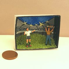 Minis in the box Die Minis im EM Fieber Miniaturen in der Streichholzschachtel