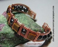 How to Make Wire Wrapped Cuff Bracelet ~ The Beading Gem's Journal  #Wire #Jewelry #Tutorials