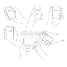 Hand with phone vector set - Buy this stock vector and explore similar vectors at Adobe Stock Hand Reference, Canal No Youtube, Art Plastique, How To Draw Hands, Drawing Hands, Character Design, Sketches, Drawing Tutorials, Design Templates