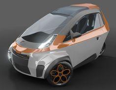 concept city cars | μrban : Micro Urban 3-Wheel Concept Car by Ariel Marioni | Tuvie