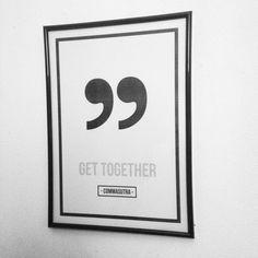 Poster design - Get together - Commasutra  Made by Inge Joosten