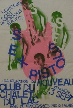 L' Anarchie Pour Le UK - Sex Pistols poster for a gig in Paris