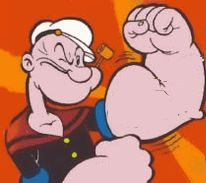 Image result for popeye flexing