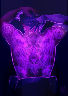 """pidgepitchu: """" jen-iii: """" Finally done!! A full masterpost of my Glowy Paladin Tattoo series!! All the tattoos correspond to their position on Voltron as well as their Guardian elements~ (Sorry Coran,...(Photo set)"""
