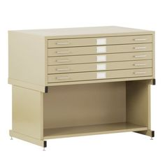 Sandusky Lee Flat Filing Cabinet with Open Base Putty - ATM044-6