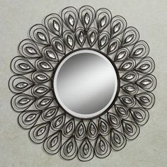 The Peacock Gems Round Metal Wall Mirror takes inspiration from one of nature's most beautiful images, transforming it into a stylish, contemporary artwork. Contemporary Home Decor, Contemporary Artwork, Home Decor Mirrors, Wall Mirrors, Mirror Mirror, Beveled Mirror, Acrylic Gems, Clear Acrylic, Peacock Decor