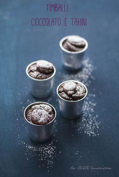 Timballi cioccolato tahini -vegan.finire un barattolo di tahini