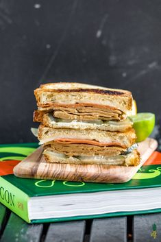 Super tasty vegan Cuban sandwiches stacked with veggie ham, mojo marinated seitan and all the fixin's. This is a recipe worth making! Vegan Foods, Vegan Dishes, Vegan Vegetarian, Vegetarian Recipes, Vegetarian Sandwiches, Vegan Meals, Seitan, Cuban Pork, Cuban Sandwich