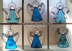 Angels - Turquoise Stained Glass https://www.facebook.com/groups/TayamaCrafts/