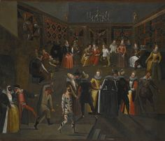Circle of Louis de Caullery (ca 1580-1621) A MASKED BALL circle of louis de caullery, cir   genre scene   sotheby's l16030lot8xmzjen