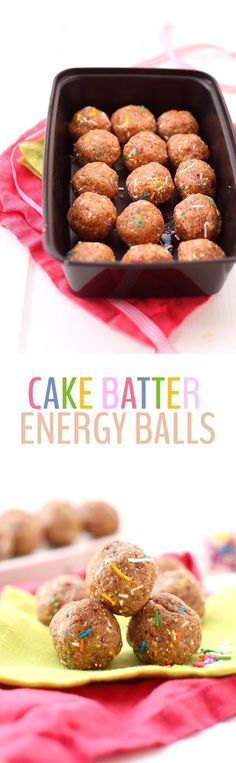 Want the taste of cake batter without having to whip up a whole cake? These Cake Batter Energy Balls are a lightened-up and high-protein snack recipe that tastes just like the real thing!
