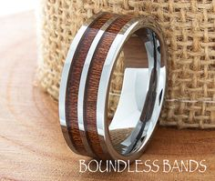 Hey, I found this really awesome Etsy listing at https://www.etsy.com/listing/227134467/double-wood-inlay-tungsten-ring-wood