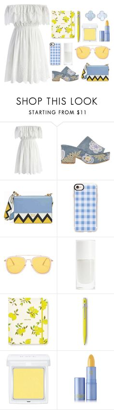 """""""✧ off shoulder ✧"""" by otterspace ❤ liked on Polyvore featuring Chicwish, Laurence Dacade, Prada, Casetify, Kate Spade, Caran d'Ache, RMK, Lipstick Queen and Van Cleef & Arpels"""