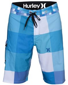 PHANTOM 60 KINGS ROAD MENS BOARDSHORT · Mens · Hurley · Squares · Blue ·  White 8ee59a9135f