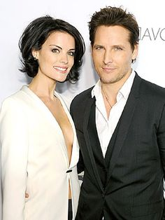 Peter Facinelli and Jaimie Alexander - Celebrity Breakups Lob Hairstyle, Permed Hairstyles, Celebrity Hairstyles, Cool Hairstyles, Jaimie Alexander, Fresh Hair, Haircut And Color, Peter Facinelli, Bad Hair