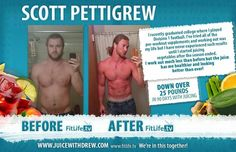 """I recently graduated college where I played Division 1 football. I've tried all the pre-workout supplements and working out was my life but I have never experienced such results until I started juicing vegetables after the season ended. I work out much less than before but the juice has me healthier and looking better than ever!"" - Scott Pettigrew"