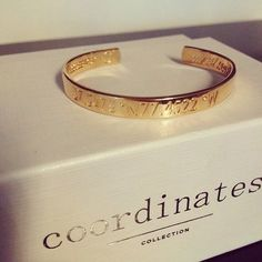 Coordinates Collection - coordinates of a special place on rings and bracelets