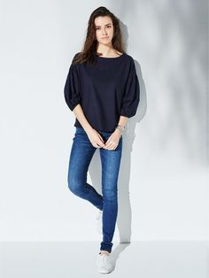 Our Cotton Linen 3/4 Sleeve T Blouse is soft, light, and sure to become a seasonal favorite.