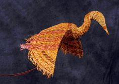 Mostly cedar Blue Heron by Donna Sakamoto Crispin