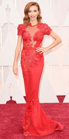 Academy Awards 2015 Red Carpet Arrivals - Giuliana Rancic from #InStyle