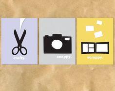 PRINTABLE ARTWORK / Crafty, Snappy and Scrappy 8.5 x 11 Poster Trio