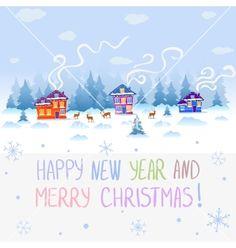 Nature winter vector. Happy Holiday by Julija on VectorStock®