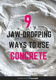 9 ways to decorate with concrete, concrete masonry, home decor, Pin this to…
