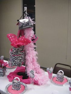 Zebra and hot pink Baby Shower Party Ideas | Photo 7 of 20 | Catch My Party