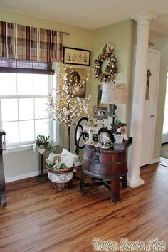 Creative Country Mom: A Pretty Vintage Corner in Any Light....