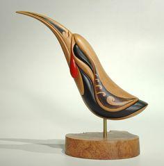 Huia Bird   by Kerry Kapua Thompson (Māori artist)