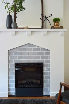 Electric fireplace insert gif