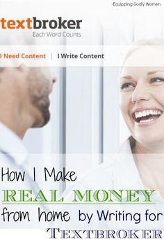 How I Make Real Money from Home by Writing for Textbroker | Equipping Godly Women