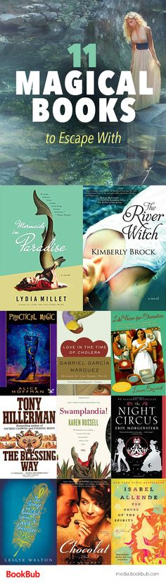 11 Magical Books to Read When You Need to Escape If you love escaping into books, check out these 11 magical books you won't be able to put down. Perfect for adults and for teens, these reads are enchanting. Books And Tea, I Love Books, Great Books, Books To Read, My Books, Amazing Books, Book Suggestions, Book Recommendations, Reading Rainbow
