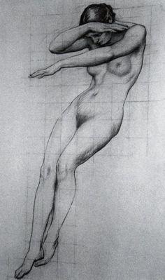 Herbert James Draper Study for the Foreground Figure of Clyties