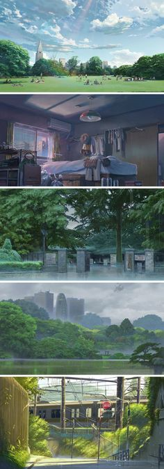 The Garden of Words (言の葉の庭 Kotonoha no Niwa) is a 2013 Japanese anime film produced by CoMix Wave Films and directed by Makoto Shinkai. http://anime-backgrounds.tumblr.com/post/56151849190/the-garden-of-words-kotonoha-no-niwa-is-a