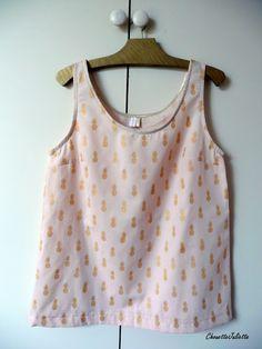Chouette Juliette: A nana's fabric nude Aime Comme Marie, Diy Vetement, Juliette, Diy Couture, Dress Me Up, Polka Dot Top, Crochet, Fabric, T Shirt