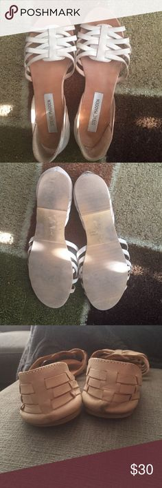 Steve Madden Sandals Size 8. A bit dirty from the right picture as seen on pic. Overall, good condition. Steve Madden Shoes Sandals