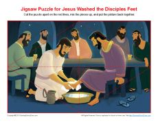 Jesus Washed the Disciples Feet Jigsaw Puzzle | Bible Activities