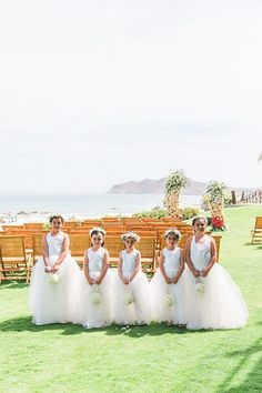 Sweet matching flower girls on white dresses with flower crowns - Photography: JBJ Pictures | Colorful Cabo Destination Wedding - Belle The Magazine Wedding Flower Girl Dresses, Flower Girls, Flower Crowns, Home Wedding, Dream Wedding, Classic Blue Suit, Best Bride, Honeymoon Spots, Wedding Honeymoons