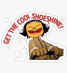 Pegatina GET THE COOL SHOESHINE!- Noodle, 19-2000 by Gorillaz