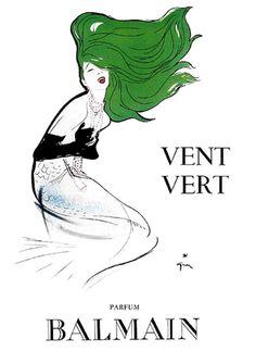 Balmain+Vent+Vert+Parfums+Mermaid+1940+Gruau.jpg 591×811 pixels