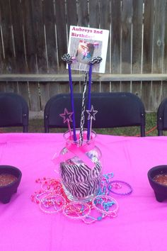 Centerpiece for my daughters Diva party.