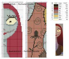 Cross stitch chart Sally bookmark  ( The Nightmare Before Christmas )