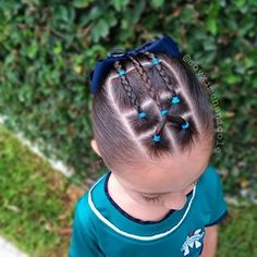 Omg the cutest thing to try when on holiday 🌈 ℙ𝕖𝕚𝕟𝕒𝕕𝕠𝕤 𝕡𝕒𝕣𝕒 𝕟𝕚𝕟̃𝕒𝕤 ⭐ ( Easy Toddler Hairstyles, Cute Little Girl Hairstyles, Girls Natural Hairstyles, Baby Girl Hairstyles, Dance Hairstyles, Work Hairstyles, Baddie Hairstyles, Braided Hairstyles, Natural Hair Styles
