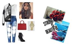 """""""Sin título #73"""" by mariamsilva ❤ liked on Polyvore featuring Chicwish, Topshop, MICHAEL Michael Kors, Kendall + Kylie and Armani Exchange"""