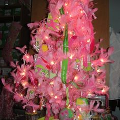 Spotted: a Pink Lilly Christmas tree. Need! #lillyholiday