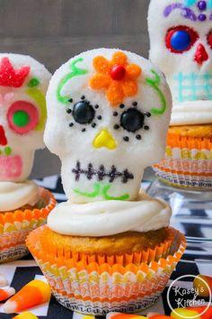 Cupcakes para este día de muertos.
