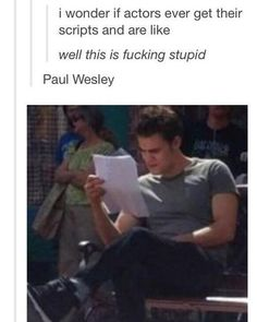 Paul Wesley The Vampire Diaries The Vampire Diaries, Vampire Diaries The Originals, Stupid Funny Memes, Funny Relatable Memes, Hilarious, Vampier Diaries, Cw Series, Original Vampire, Stefan Salvatore