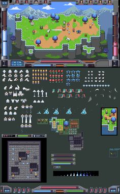 A very large dump @ PixelJoint.com Game Design, Cool Pixel Art, Video Game Sprites, Pixel Animation, Pixel Art Games, Game Environment, Isometric Design, Games Images, Game Concept