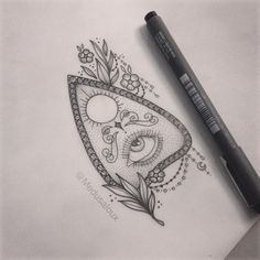 Planchette tattoo - Medusa Lou tattoo artist - medusaloux@outlook.com